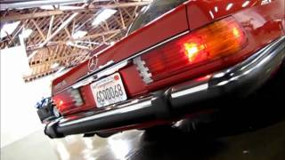 1989 Mercedes-Benz 560 SL Engine Rev