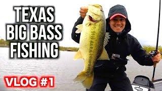 Texas Spring Big Bass Fishing Day 1 VLOG ft. LunkersTV