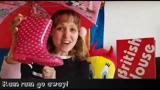 British House Music time in English: Rain rain go away