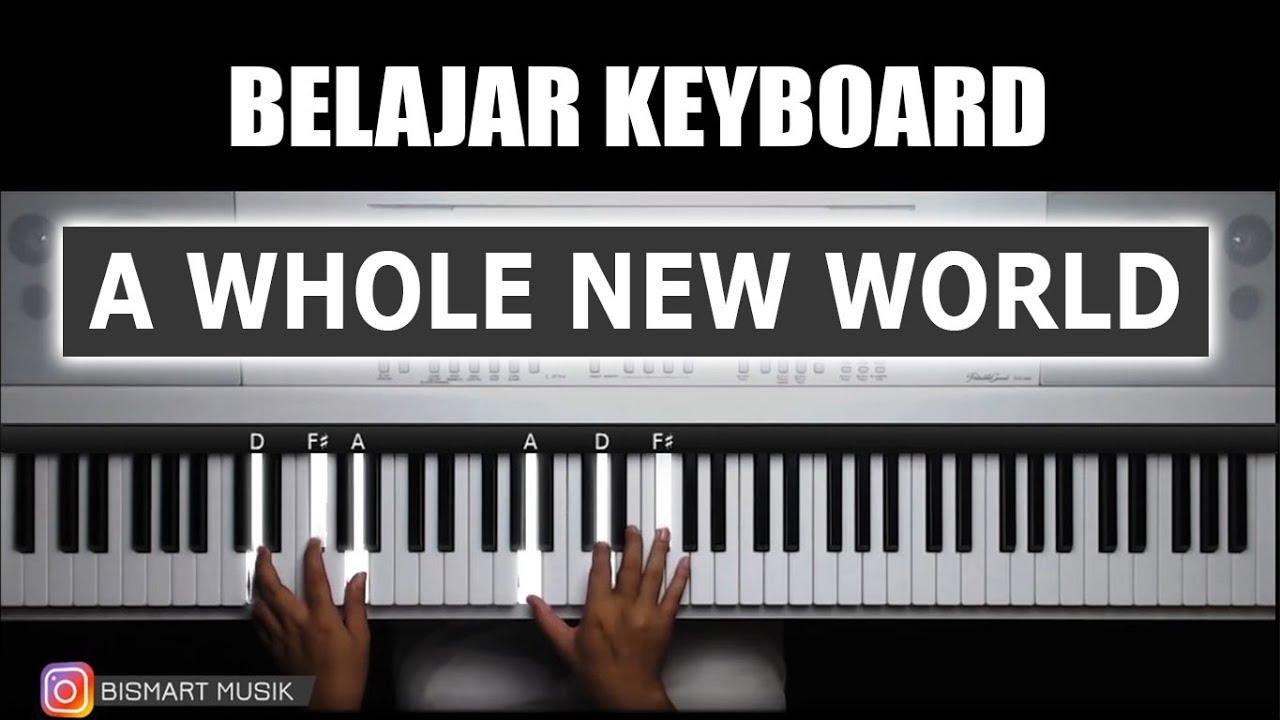 Belajar Keyboard Mengiringi A Whole New World Belajar Piano Keyboard Youtube