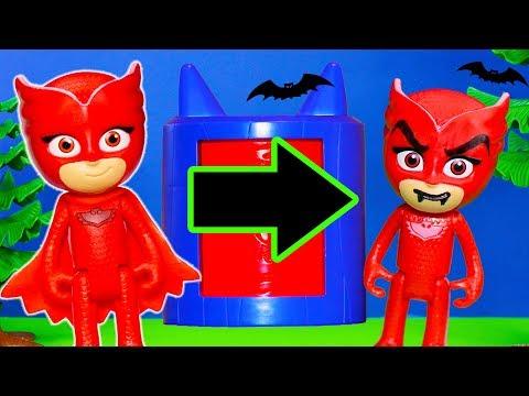 PJ MASKS Disney Spooky Monster Transforming Tower Costume Changer Catboy Owlette Gekko