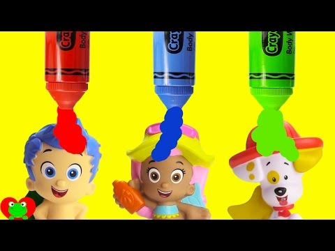 LEARN Colors Bubble Guppies Magical Surprises Bath Time Fun