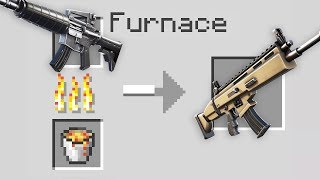 Minecraft Battle : NOOB CREATE EPIC GUN - NOOB vs PRO vs HACKER vs GOD - Animation