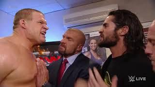 Seth Rollins apologizes to Kane Raw, April 20, 2015
