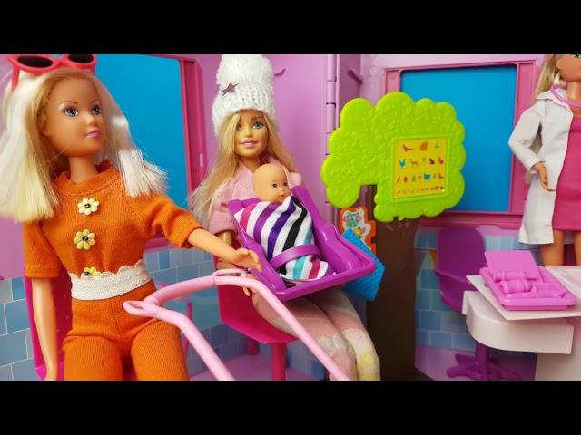 Rodzinka Barbie - barbie w szpitalu chore dzieci kompilacja - bajki dla dzieci