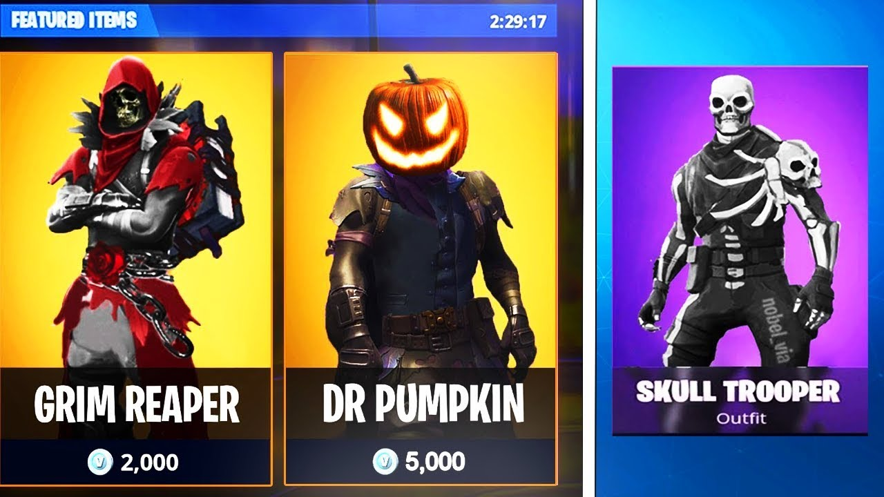 "FORTNITE 2018 ""HALLOWEEN SKINS"" LEAKED! (NEW SKINS ..."