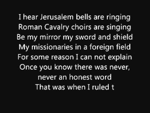 Coldplay-When I Ruled The World(lyrics)or Viva La Vida.