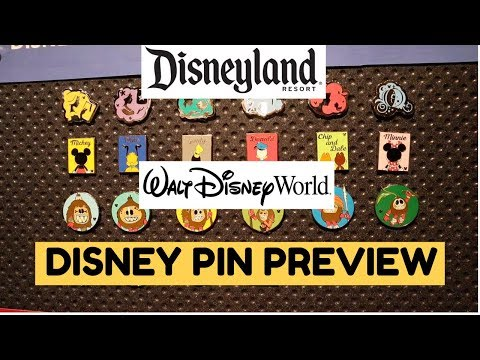 DISNEYLAND & WALT DISNEY WORLD PIN PREVIEW! | Walt Disney's