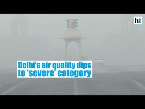 Delhi's air quality dips to 'severe' category despite mild showers