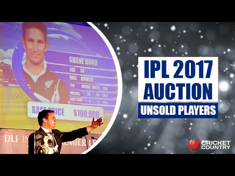 Top 10 Unsold Players In The IPL auction 2017 | IPL Auction 2017 | Unsold players List | IPL