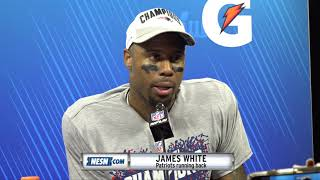 James White Patriots-Rams Super Bowl 53 victory press conference Video