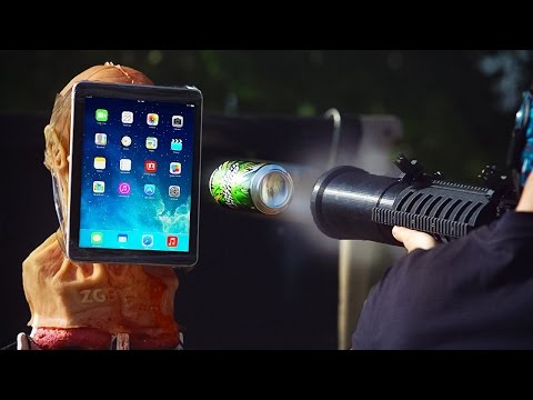BEERZOOKA! Don't Launch a Beer Can Into an iPad!