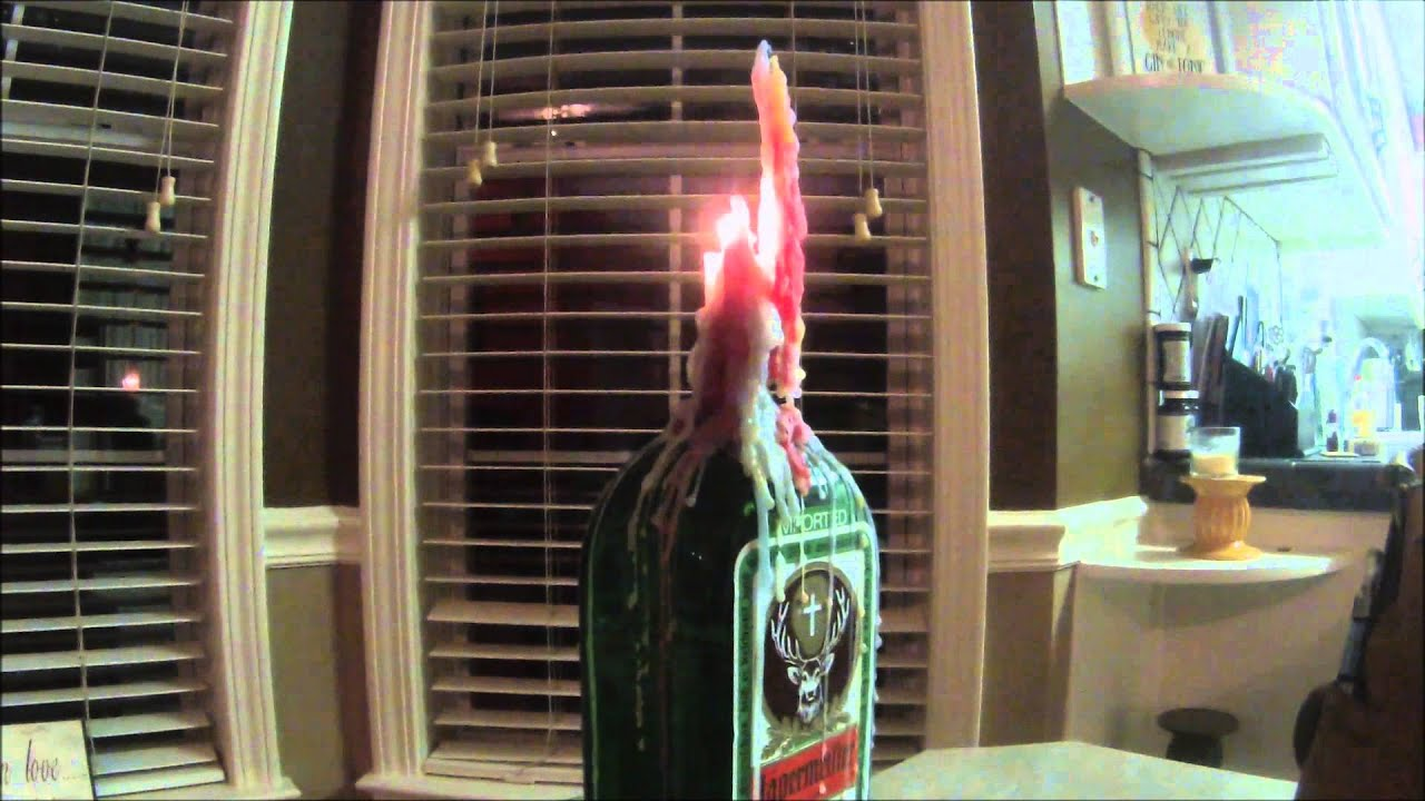 Candle Drip Project Dripping Colored Candles Onto Jagermeister