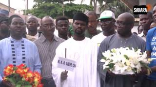 Wreath Laying Ceremony At Chief MKO Abiola's Tomb To Mark 23rd Anniversary Of