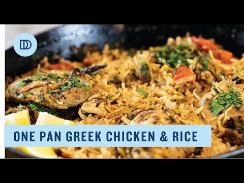 One Pot Greek Chicken & Rice / READY IN UNDER 60 MINUTES!