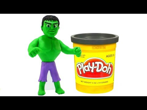 Make A Superhero Hulk Play Doh Cartoon Superhero Babies Stop Motion Animations