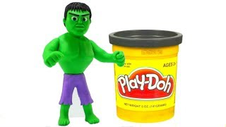 Make A Superhero Hulk Play Doh Cartoon Superhero Babies Stop Motion Animations