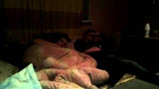 Секс в большой постели