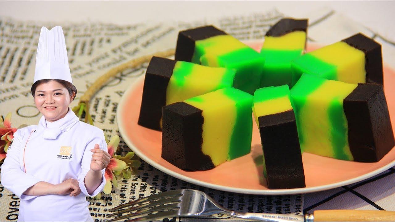 Bánh Bà Lai 3 màu, cách làm bánh Bà Lai đơn giản, ngon miệng/ Bếp Xanh