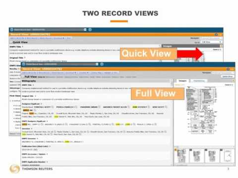 Thomson Innovation - Reviewing Patent Records