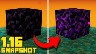 Minecraft 1.16 Snapshot CRYING Obsidian! Target Block (New 20w09a Nether Update)
