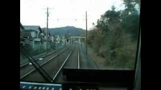 京都の郊外電車「叡山電車」二軒茶屋駅~京都精華大前駅