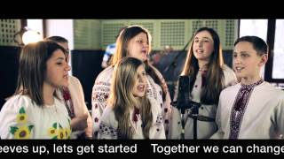 Ukrainian Orphans singing: Together We Can Change the World, Together We Can Change Ukraine.