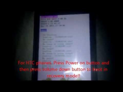 Unlock pattern lock of android phones using factory reset