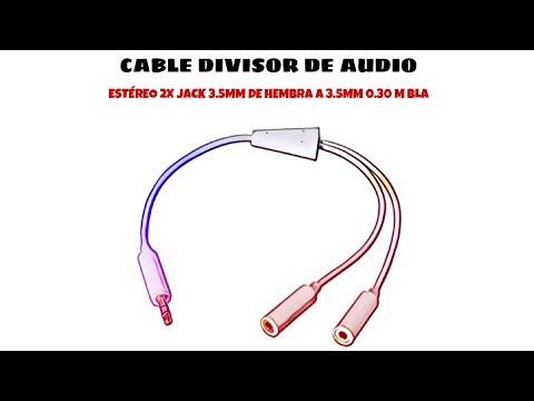 Video de Cable divisor de audio estereo 2x Jack 3.5mm hembra a 3.5mm 0.15 M Bla