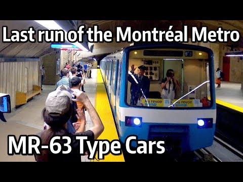 ⁴ᴷ Last run of the Montréal Metro MR-63 Cars