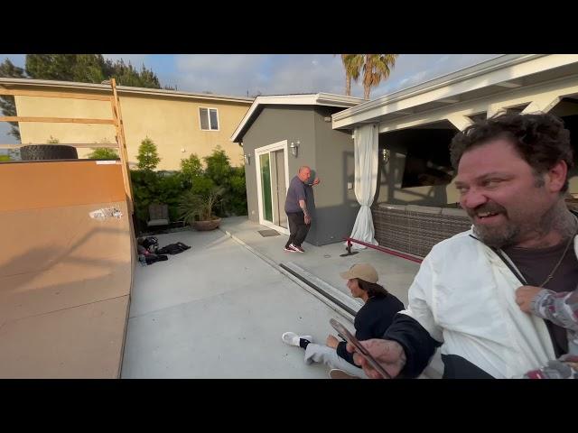 Backyard Mini Ramp Fail With Bam Margera