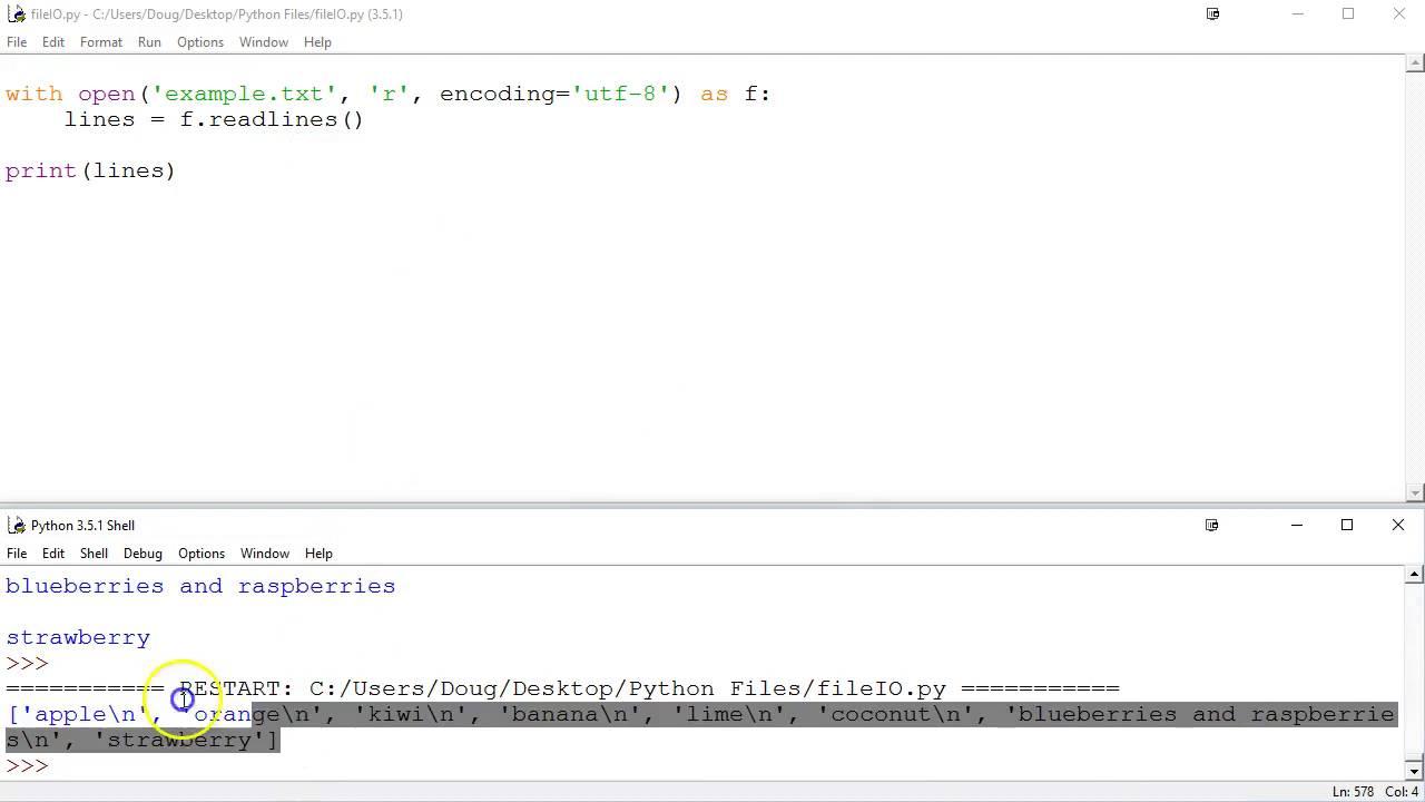 File I/O in Python 3