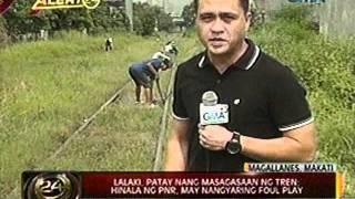 ALERTO 24: Lalaki, patay nang masagasaan ng tren sa Makati