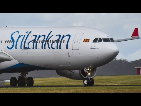 INAUGURAL SriLankan Airlines A330-300 Landing at Melbourne Airport