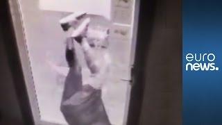 Darwin award? Thief climbs through smashed glass to break into bar