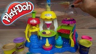 Обзор Пластилин Play-Doh набор Фабрика пирожных Плюсы и минусы