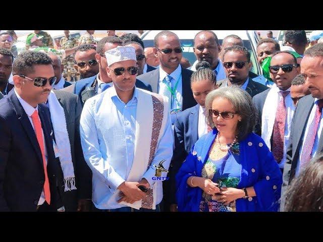Md Mustafa Cagjar oo Jigjiga Kusoo dhaweeyay Madaxweynadda Atoobiya Ms Sahle.