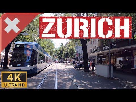 DRIVING ZÜRICH, Canton of Zürich,  SWITZERLAND I 4K 60fps