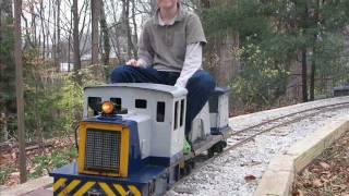 Live Steam Garden Railway Backyard Ge 25 Diesel Switcher Railroad Construction  Train Rides