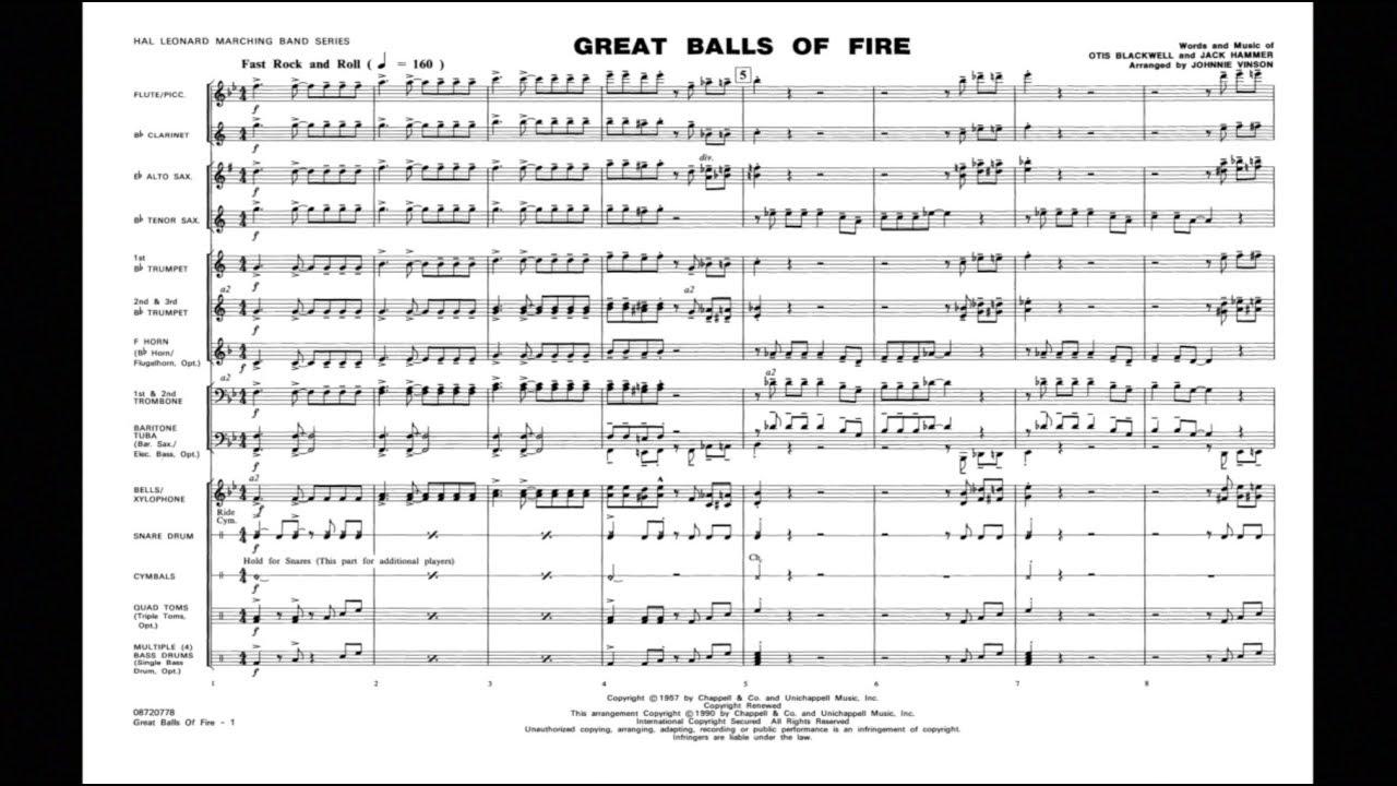 Great Balls of Fire arranged by Johnnie Vinson