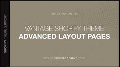How to setup advanced Layouts in Pages - Vantage Shopify Theme
