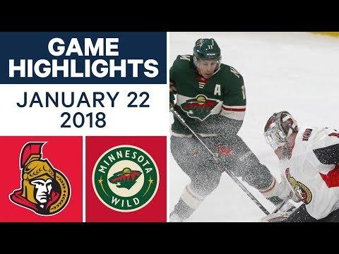 NHL Game Highlights | Senators vs. Wild —Jan. 22, 2018
