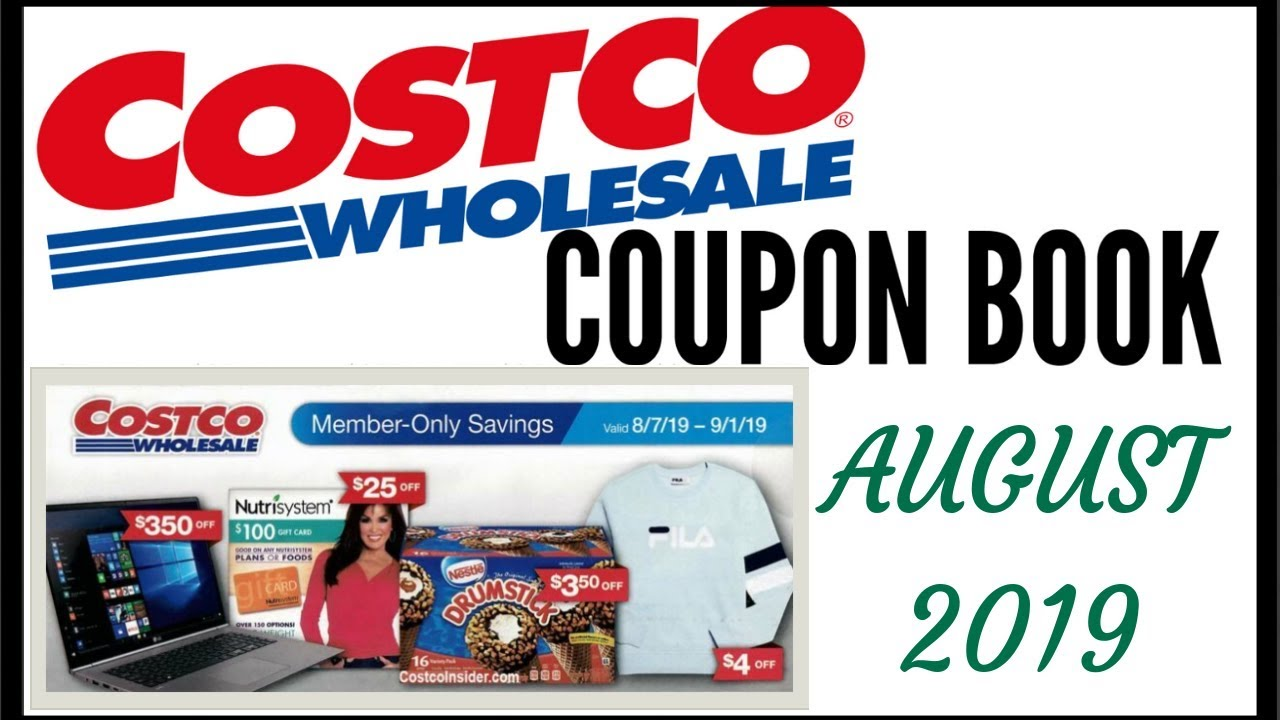 Costco August 12222 Coupon Book