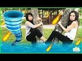 NATURAL DISASTER SURVIVAL Family Fun Kids Pretend Playtime Princess ToysReview prank playground