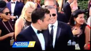 Emmys 2015 — Jimmy Fallon cuts in front of Matt LeBlanc