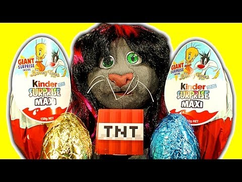 Kinder Surprise Eggplosive Easter Eggs Chocolate Extreme Unboxing Destruction
