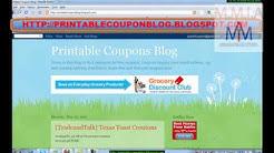 Print coupons at our Printable Coupon Blog