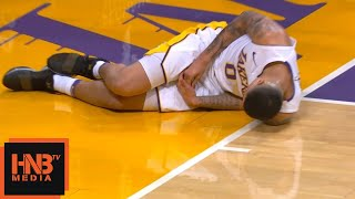Kyle Kuzma Finger Injury / LA Lakers vs Knicks