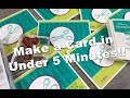 Make a Card in Under 5 Minutes!  Stampin' Up!  Crafting Forever - Episode 637