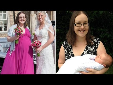 Bridesmaid Walks Her Sister Down The Aisle While In Labour